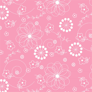 Lil' Sprout Flannel Too Doodles Pink F8229P