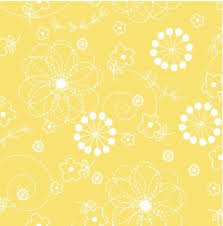 Lil' Sprout Flannel Too Doodles Yellow F8229S