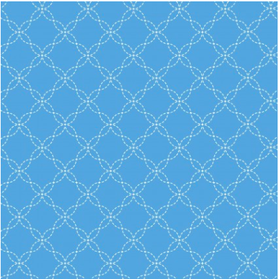 Lil' Sprout Flannel Too Lattice Blue F8230B