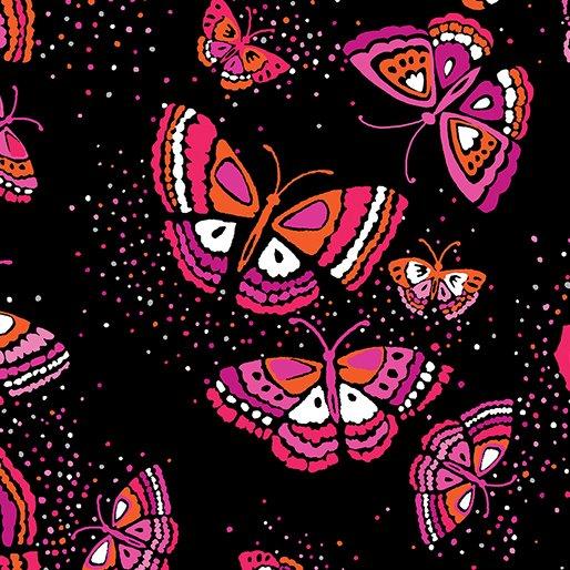 Island Blossom Island Butterfly Black-Fuchsia 0831222B