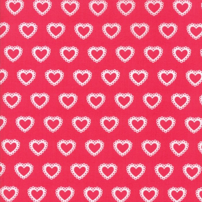 First Romance Paper Hearts Red