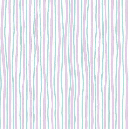 Funny Bunnies Wavy Stripe Lavender/Aqua 0854366B