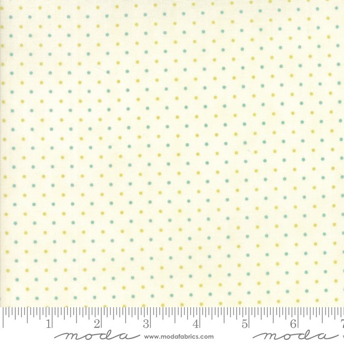 Essentially Yours Dots White Aqua Gr 8654 139