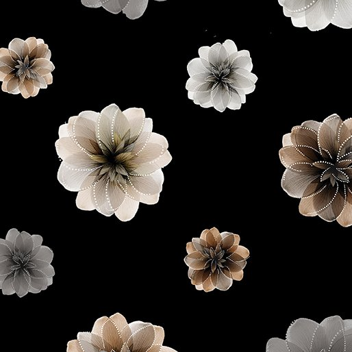 Essence of Pearl Floating Blossoms Black 8729P12