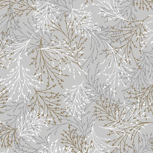Essence of Pearl Tossed Sprigs Gray/Brown