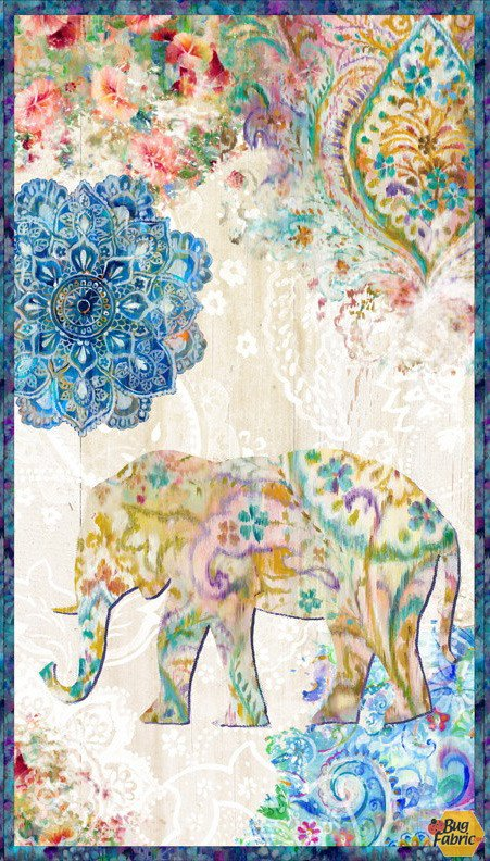 Bohemian Dreams Elephant Panel 89189-145