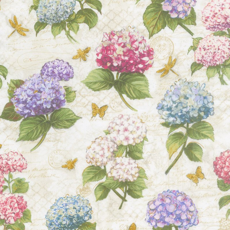 Hydrangea Dreams Large All Over Ivory 96437-134