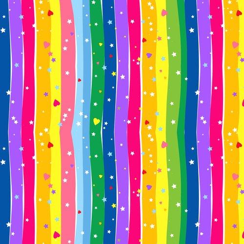 Wavy Rainbow Stripe 9415-22