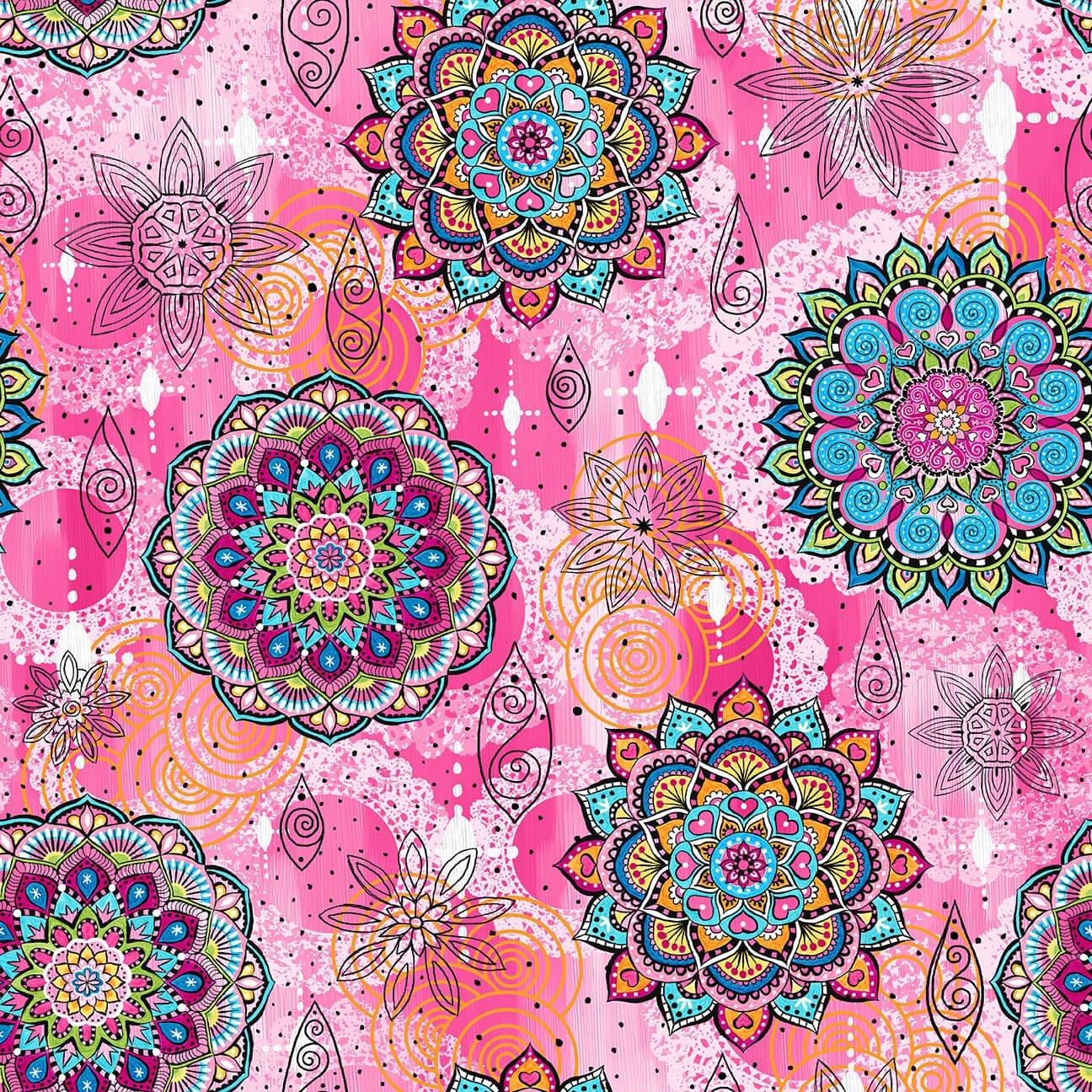 Mandala Tango Mandalas Pink 9647-22