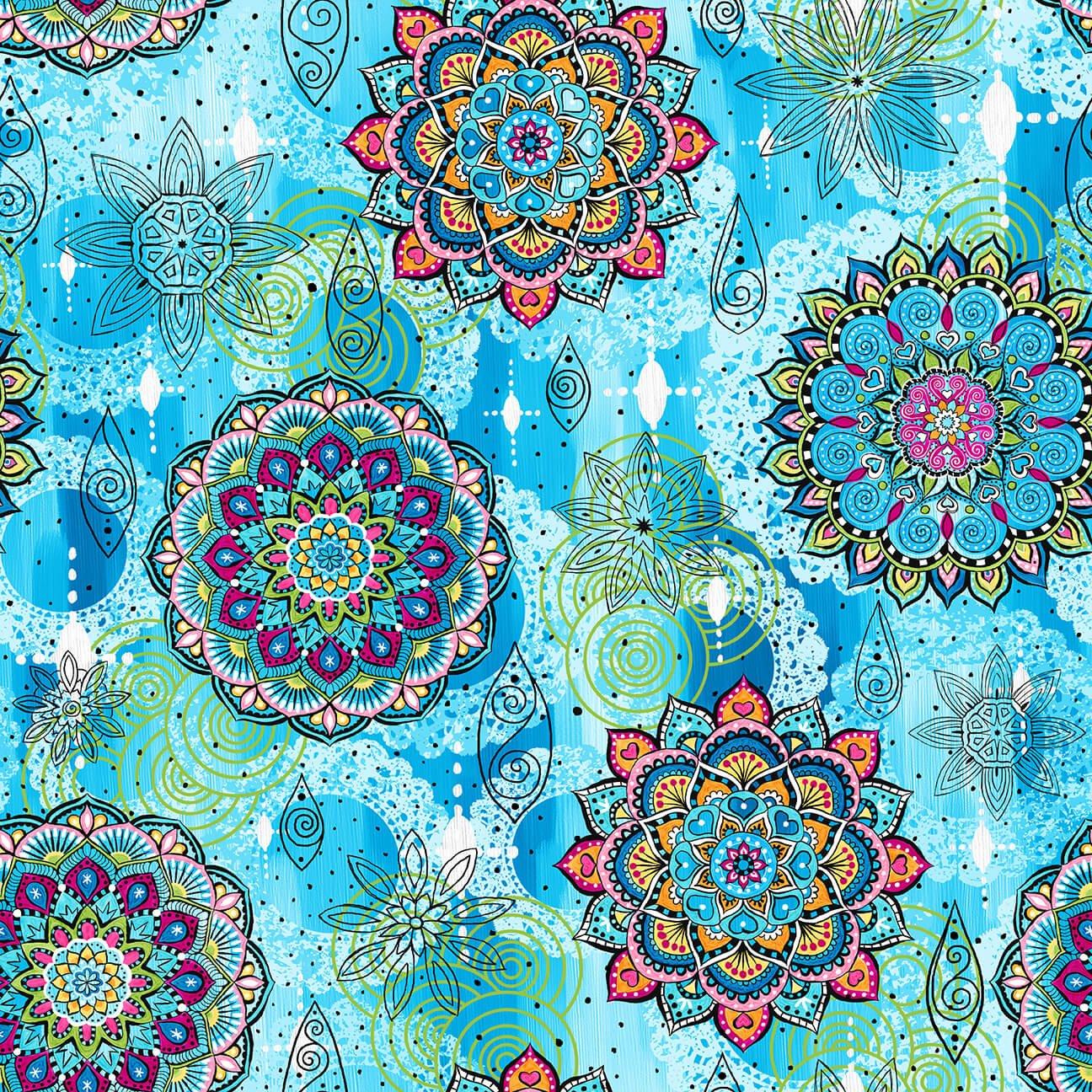 Mandala Tango Mandalas Blue 9647-70