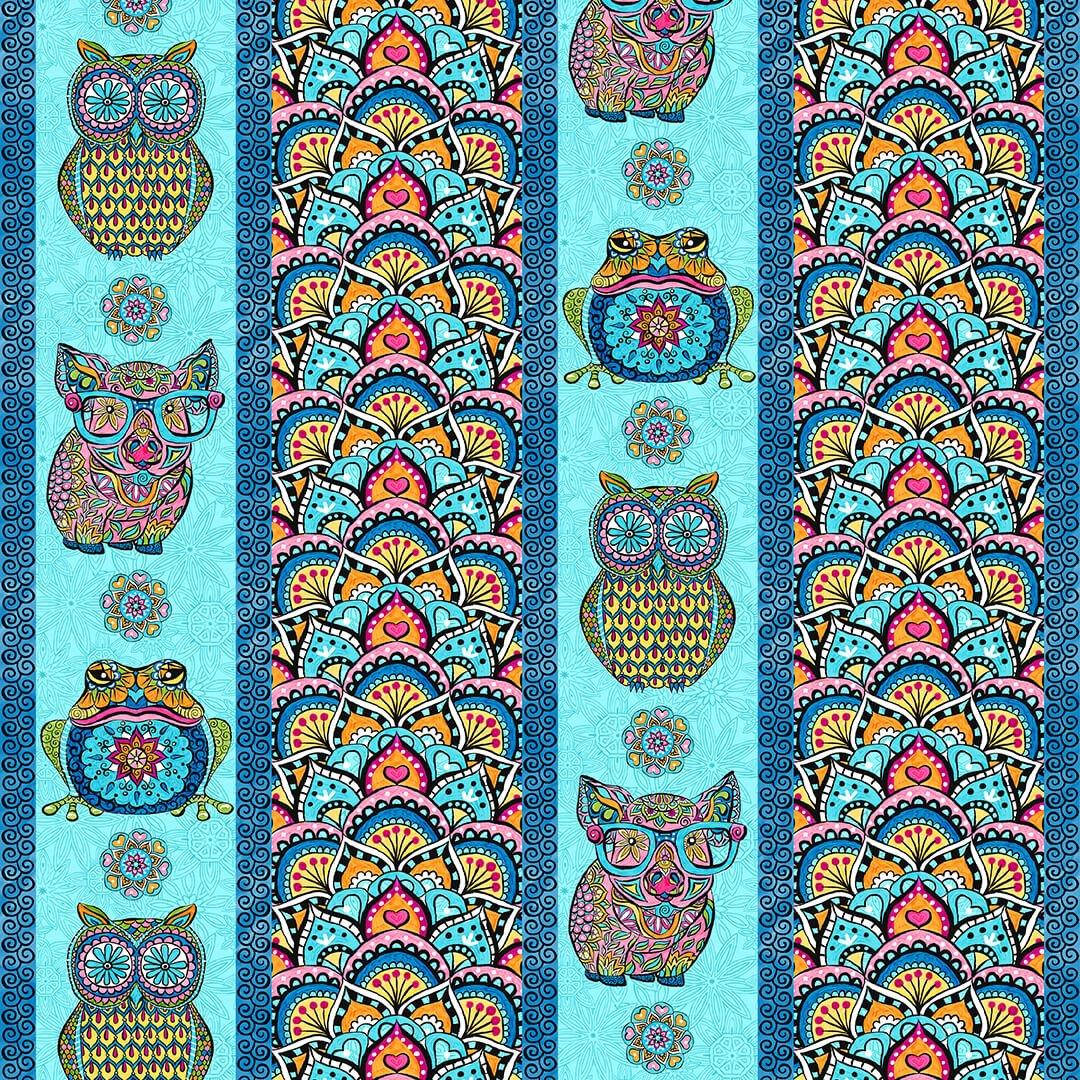 Mandala Tango Stripe Blue 9648-70