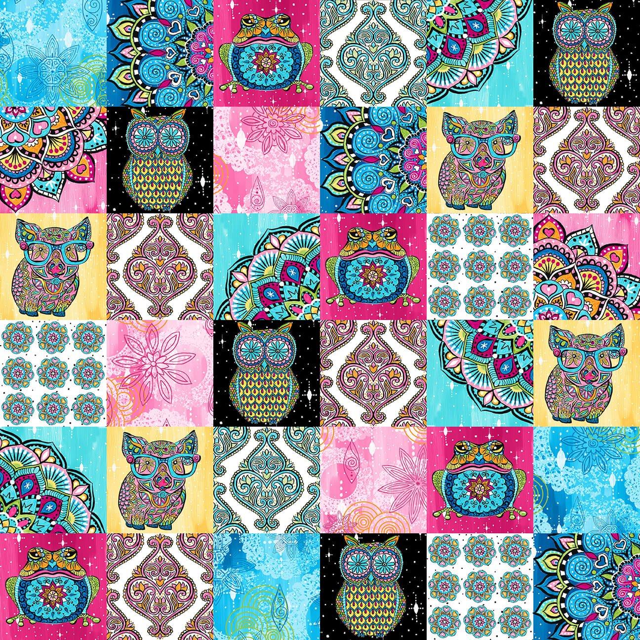 Mandala Tango Patch Pink 9649-22