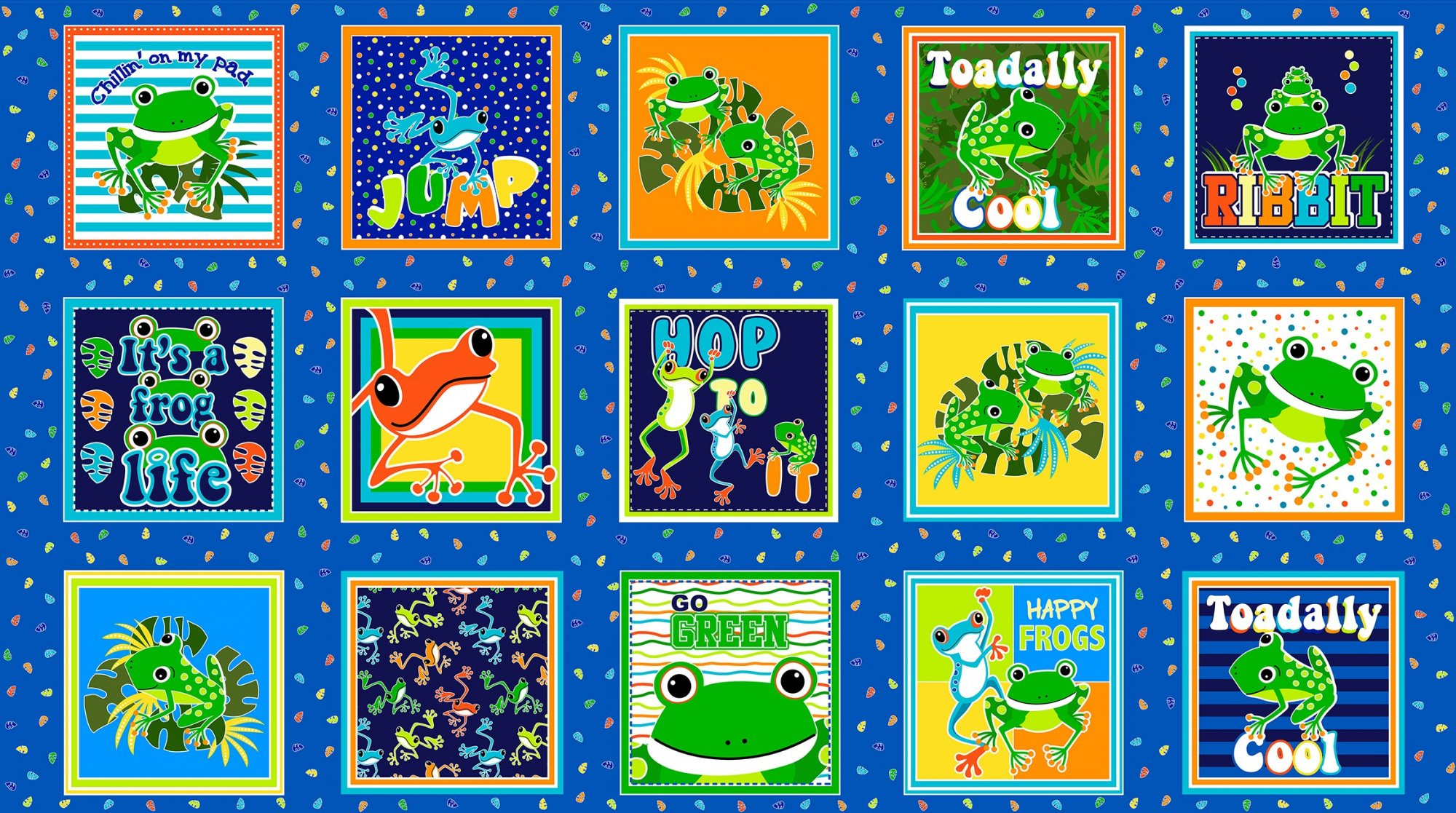 Toadally Cool Squares 9829GL-99