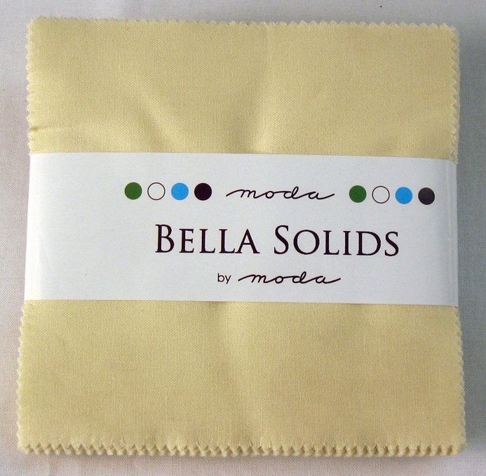 Bella Solids Charm Pack Snow 9900PP 11