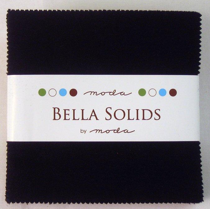 Bella Solids Charm Pack Black 9900PP 99