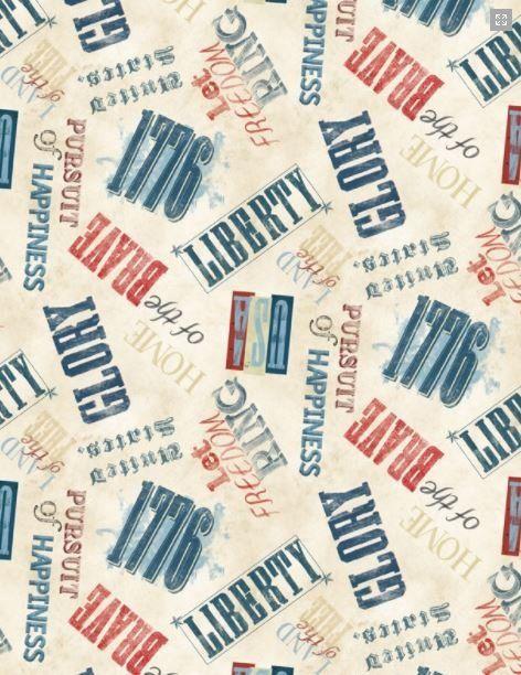 Land of Liberty Words tan 24040-243