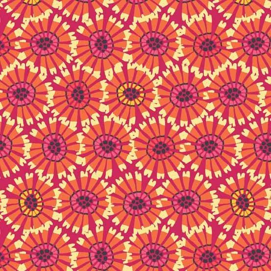 Sundance Abstract Flower Orange 1923-N