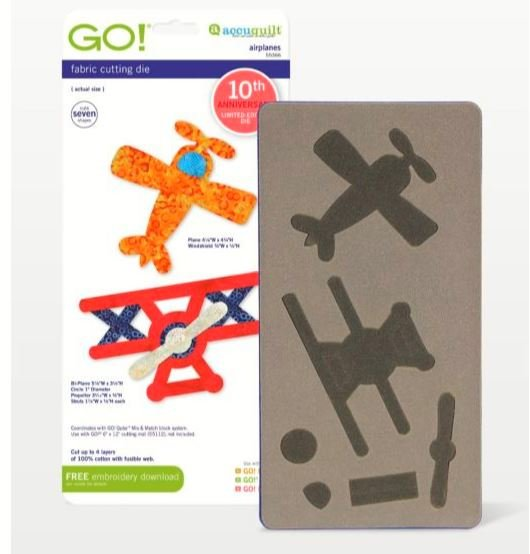 GO! Accuquilt Airplanes 55366