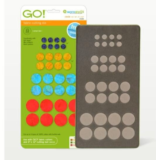 GO! Accuquilt Circles Multi Sizes 55484