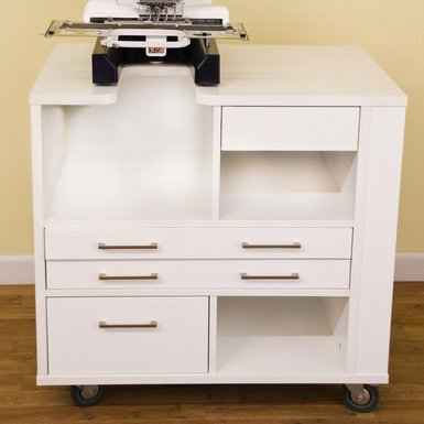 Ava Embroidery Cabinet White