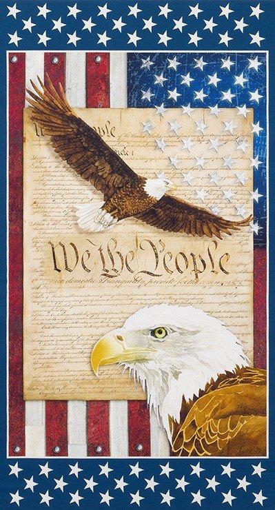 Americana Patriotic Panel 24in Repeat Digitally Printed