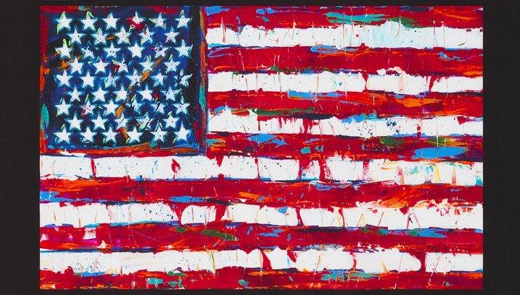 Americana American Flag Panel 24in repeat AWUD-18411-202 AMERICANA