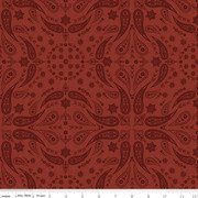 Back Of The Chutes Bandana Rust Riley Blake C10132R-RUST