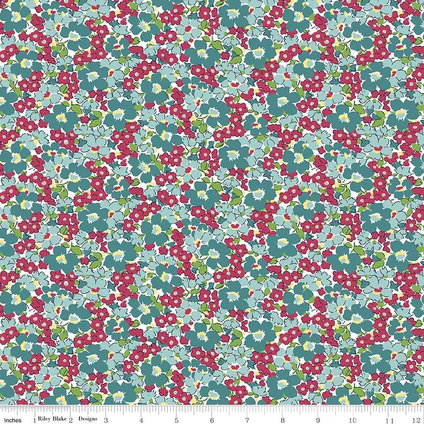 Dainty Darling Floral C5853-Aqua
