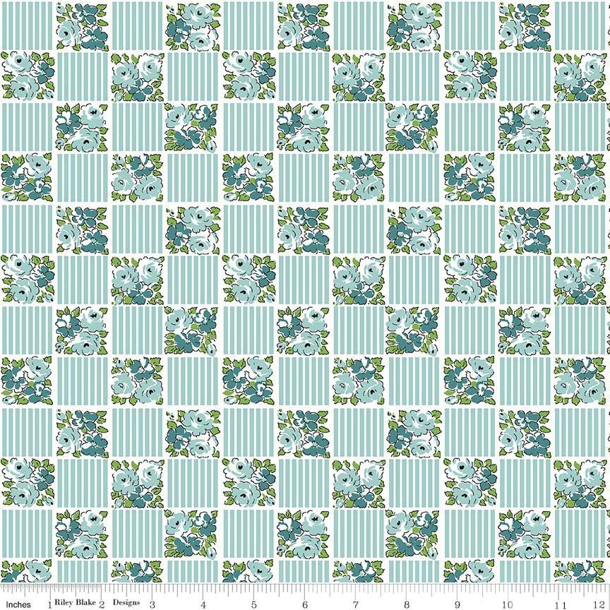 Dainty Darling Square C5854-Aqua