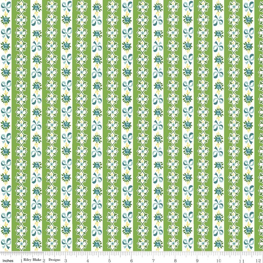 Dainty Darling Stripe C5855-Green