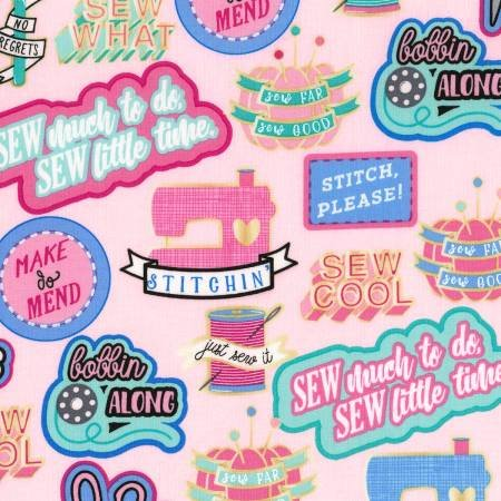 Sew Cool Patches Pink C6321-PINK
