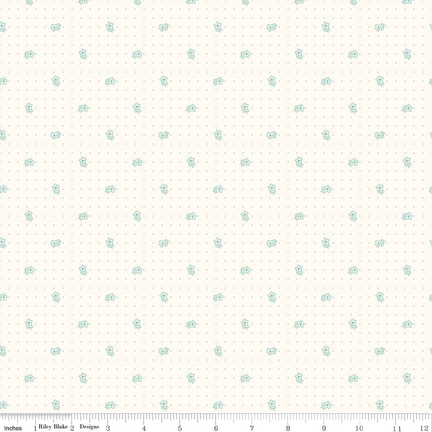 Bee Backgrounds Daisy Teal C6380-TEAL