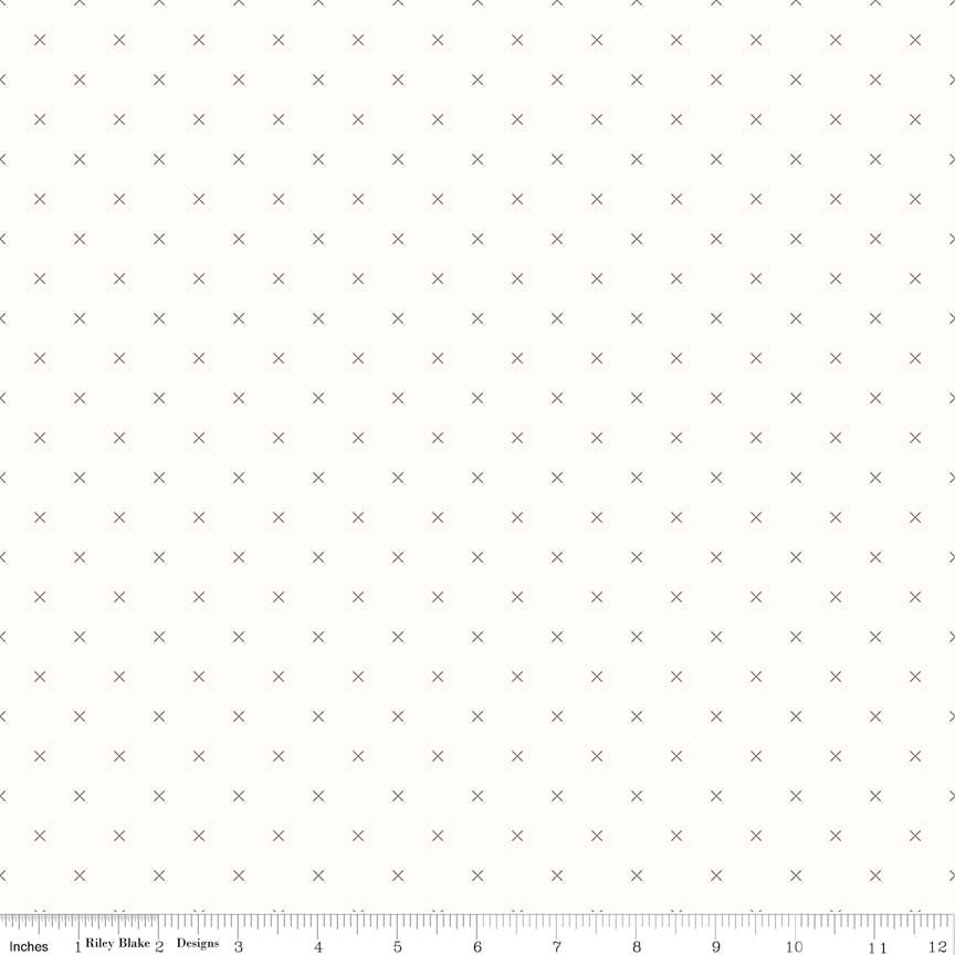 Bee Backgrounds Crossstich Gray C6381-GRAY