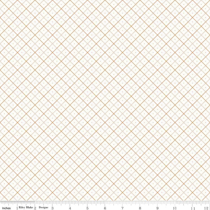 Bee Backgrounds Grid Orange C6383-ORANGE