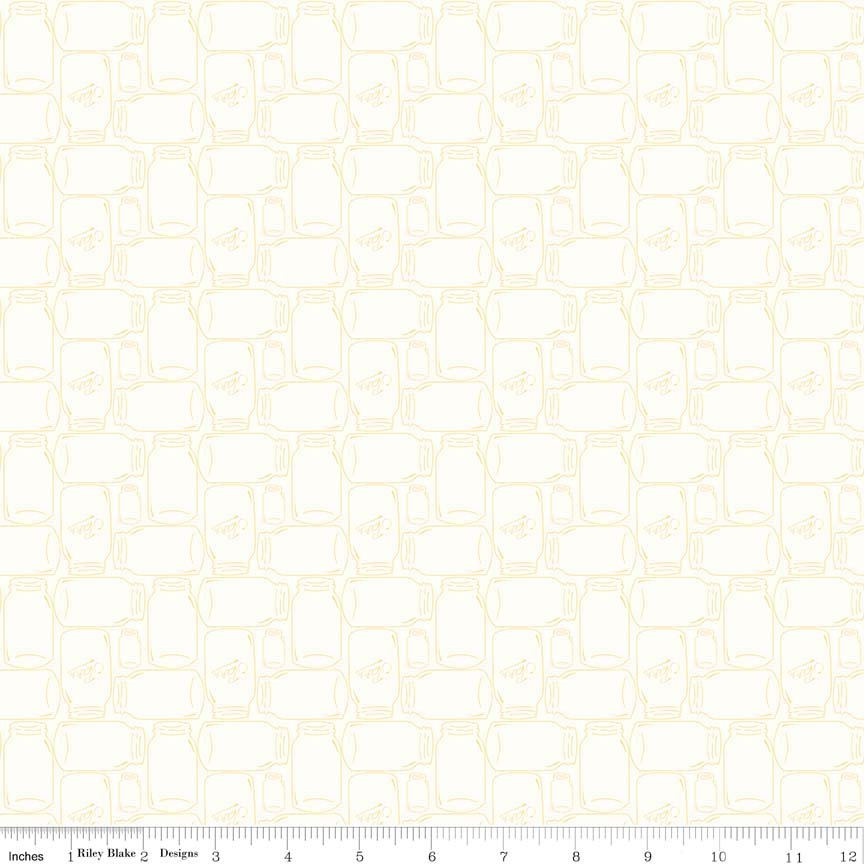 Bee Backgrounds Cannin Jar Yellow C6385-YELLOW