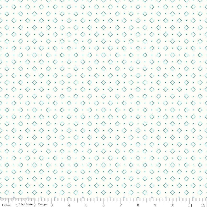 Bee Backgrounds Diamond Turquoise C6386-TURQUOISE