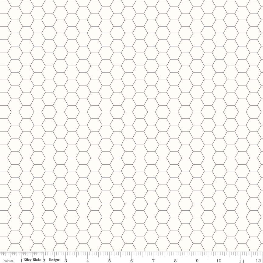 Bee Backgrounds Honeycomb Gray C6387-GRAY