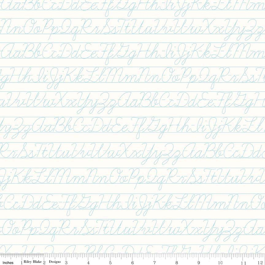 Bee Backgrounds Penmanship Aqua C6388-AQUA