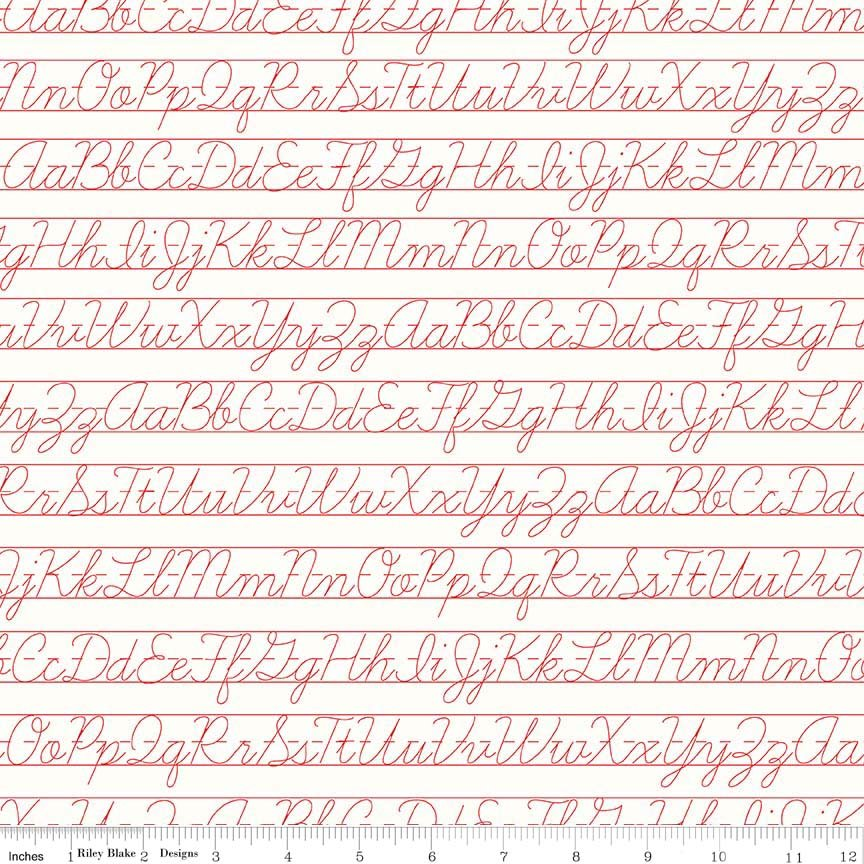 Bee Backgrounds Penmanship Red C6388-RED