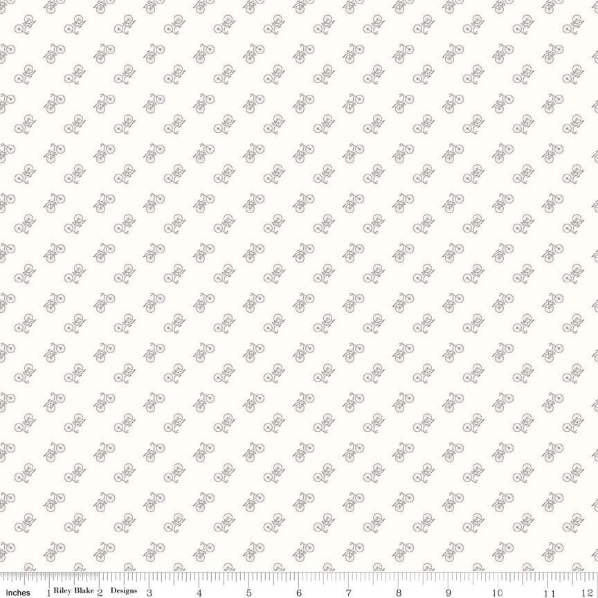 Bee Backgrounds Bicycle Gray C6389-GRAY