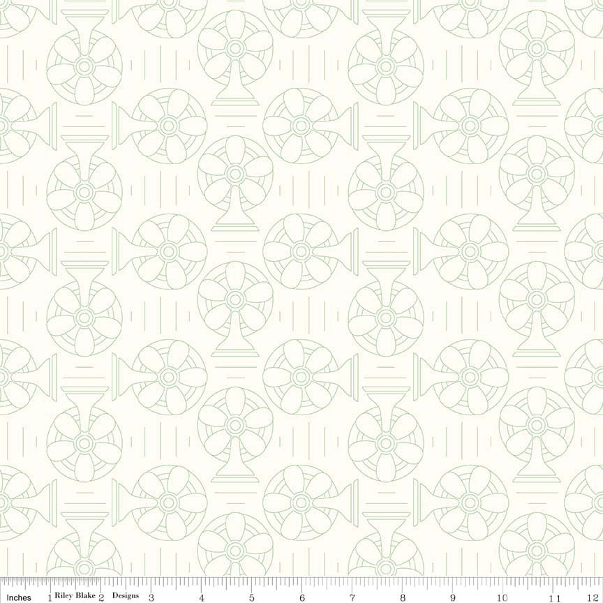 Bee Backgrounds Cool Green C6390-GREEN