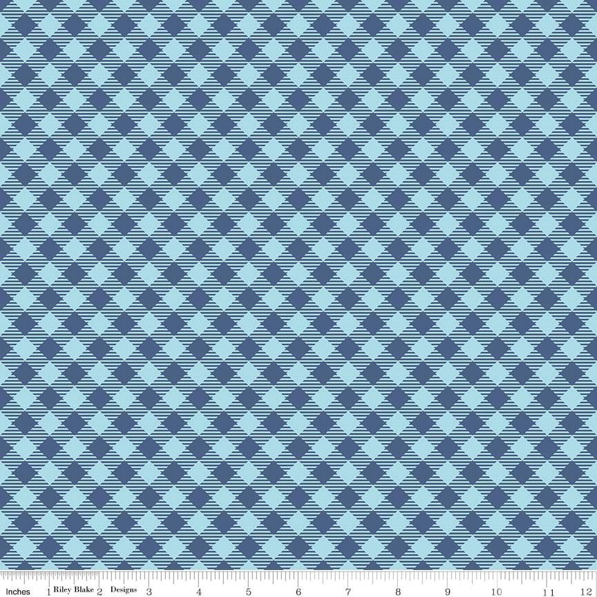 Bee Basics Gingham Blue C6400-BLUE