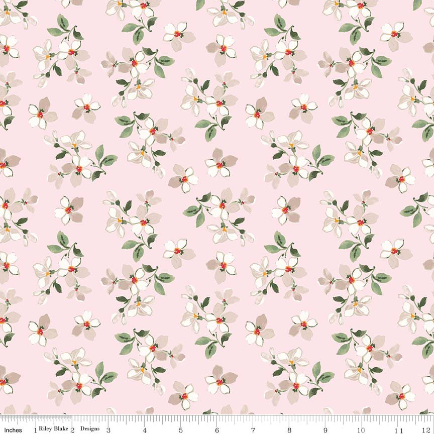 Farmhouse Floral Tossed Flowers C6884PINK
