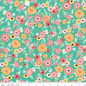 Just Sayin' Floral - Mint C6891-MINT