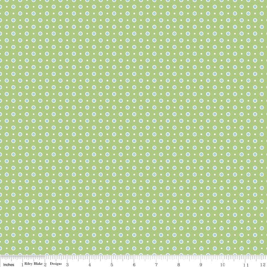 Bake Sale 2 Dot Green - C6987-GREEN