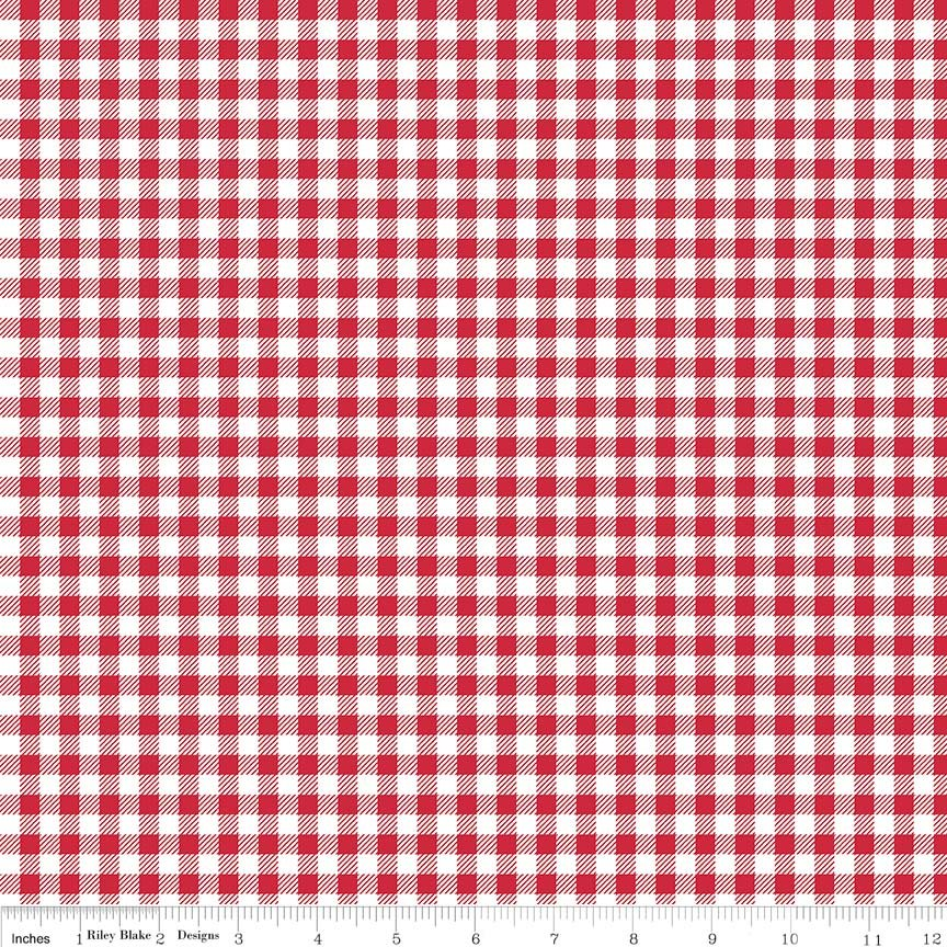 Bake Sale 2 Gingham Red - C6988-RED