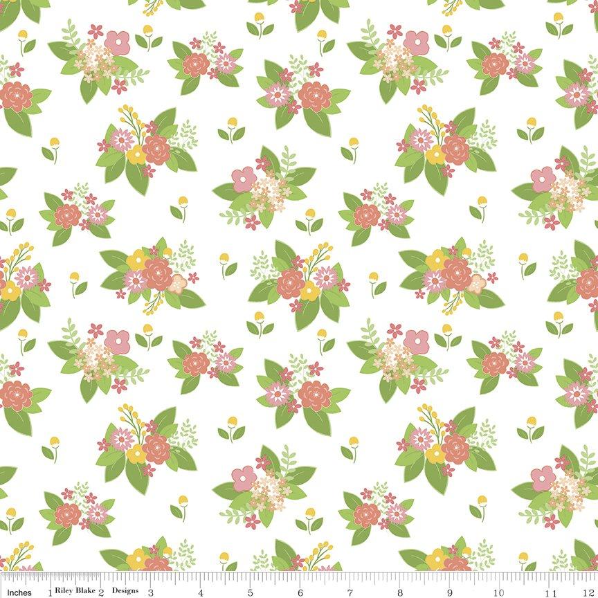 Vintage Adventure Floral C7274-WHITE