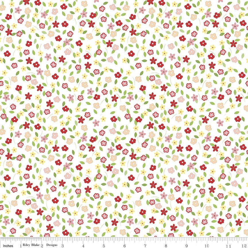 Vintage Adventure Tiny Floral C7275-WHITE