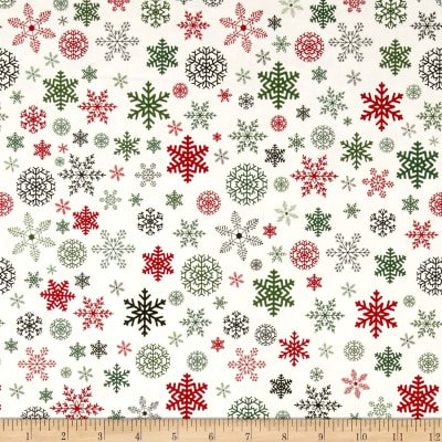 Christmas Delivery Snowflakes C7333-Cream