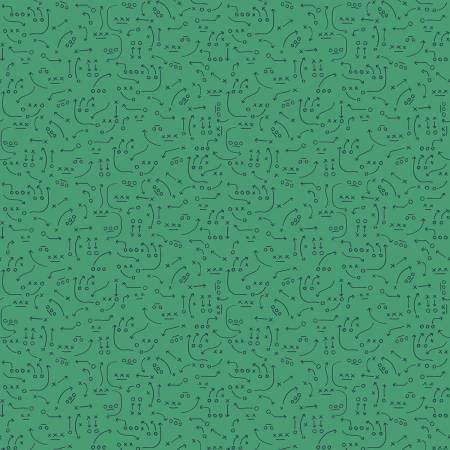 Varsity Playbook Green C7434-GREEN